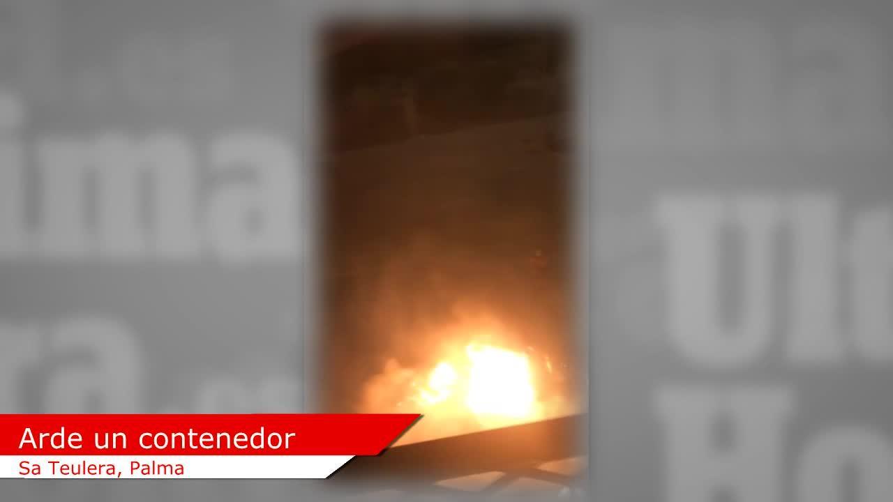 Arde un nuevo contenedor en Palma
