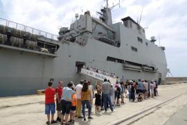 A bordo, con la Armada