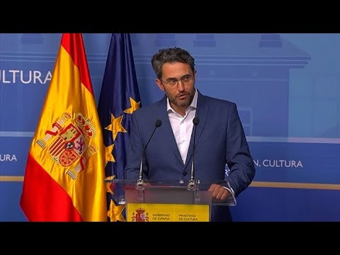 Rueda de prensa de la dimisión de Màxim Huerta