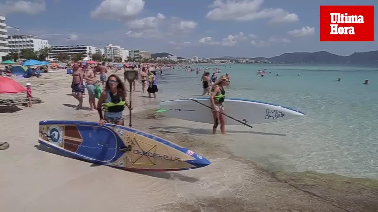 El mal tiempo dificulta la vuelta a Mallorca en paddle surf de Valerie Bisbal y Cat Friend