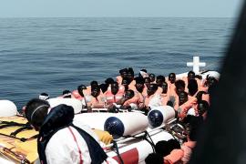 Los refugiados del Aquarius tardarán unas cuatro semanas en llegar a Baleares