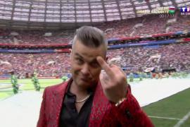 Robbie Williams da la nota en la ceremonia de inauguración del Mundial de Rusia