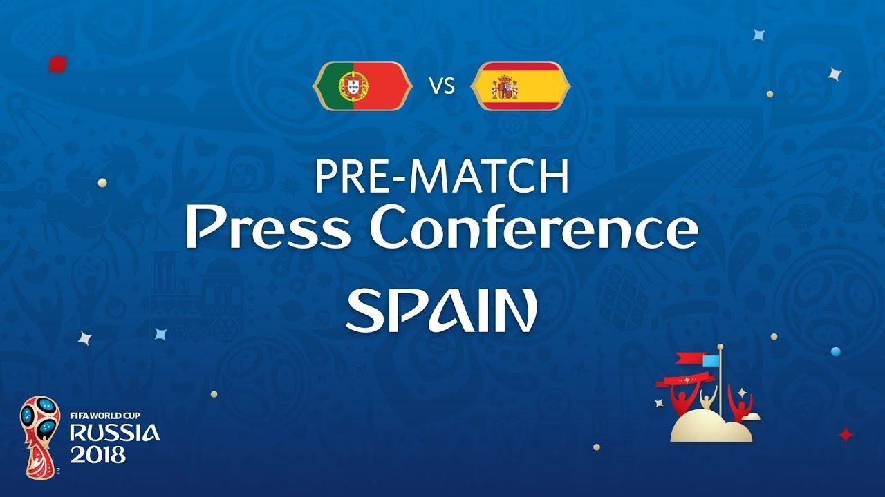Rueda de prensa de Fernando Hierro y Sergio Ramos ante el Portugal-España