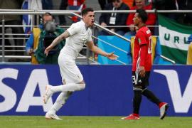 Uruguay derrota a Egipto con un gol en el último minuto