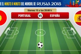 Portugal-España, en directo