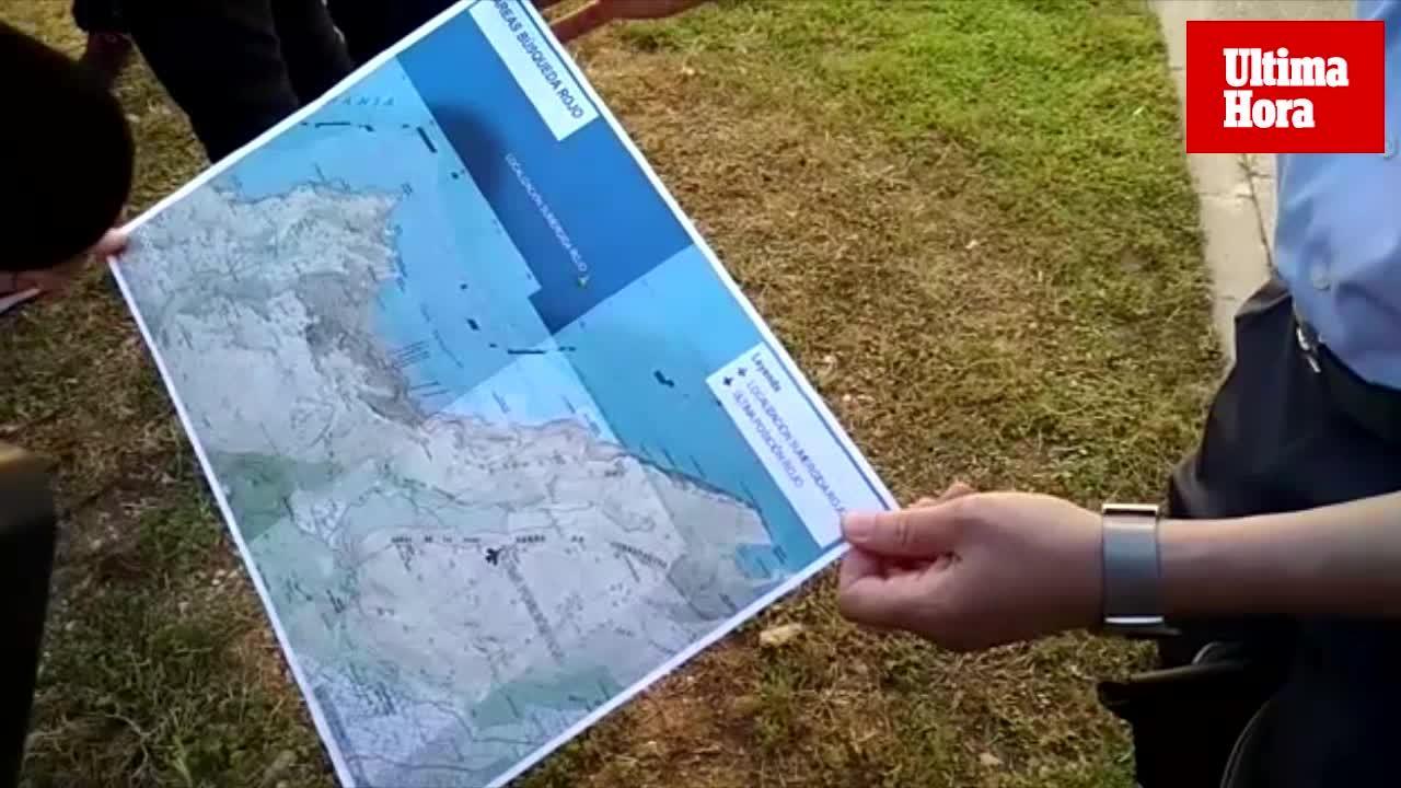 Un buque de la Armada halla la avioneta desaparecida y el cuerpo sin vida del piloto en Cala Sant Vicenç