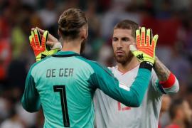 La selección española, con De Gea