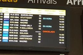 Cancelados otros 43 vuelos en Palma por la huelga de controladores franceses