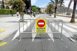 La peatonalización de la primera línea del Port de Pollença se adelanta a las 14.30 horas