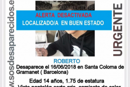 Encuentran al niño desaparecido en Santa Coloma de Gramanet