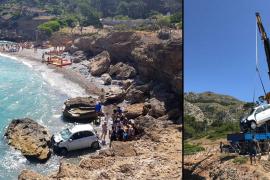 Rescatan el coche despeñado desde 10 metros en s'Illot