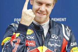 Vettel logra su decimotercera  'pole' y Alonso partirá desde la tercera plaza