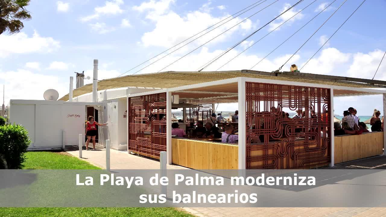 La nueva imagen de los balnearios de la Playa de Palma