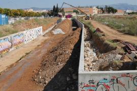 Obras en el torrente na Bárbara evitarán inundación colegio Sant Josep Obrer