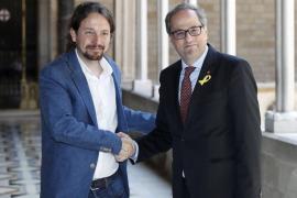 Pablo Iglesias afirma que le consta que el govern catalán no retomará la vía unilateral