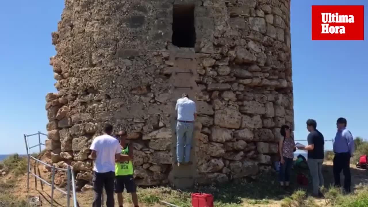 La restauración de la Torre de Illetes dejará a la vista la original y la 'piel' que la cubre