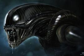 Una espantosa avispa come y madura como el monstruo de Alien
