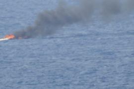Incendio en una lancha con cinco pasajeros en Andratx