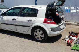 Nueva operación policial contra los talleres mecánicos móviles en Son Castelló