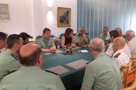 La delegada del Gobierno en Baleares se reúne con los mandos de la Guardia Civil y la Policía Nacional