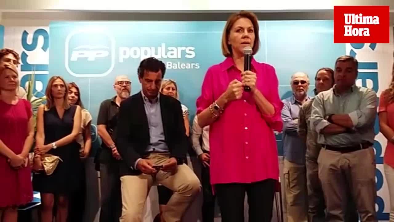 Cospedal afirma en Palma que la renovación del PP no pasa por ser «una fotocopia de Cs»