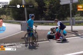 Luis León abandona el Tour de Francia tras una fuerte caída
