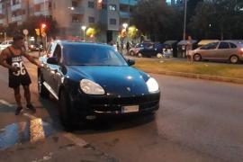 Hospitalizado un motorista y su acompañante tras un aparatoso accidente en la calle Aragón