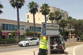 El Consell mejora la señalización de los aparcamientos disuasorios de la ciudad de Ibiza