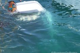 Tres heridos tras el incendio de una lancha en el Club de Mar de Palma