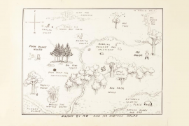 Subastada por 486.000 euros una ilustración del mapa original del Bosque de los Cien Acres de Winnie the Pooh