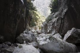 Los bomberos rescatan del Torrent de Pareis a 20 excursionistas deshidratados