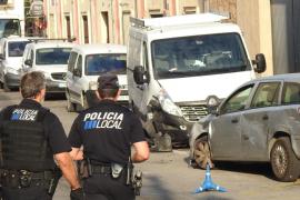 Un conductor provoca el caos con un accidente múltiple en Andratx