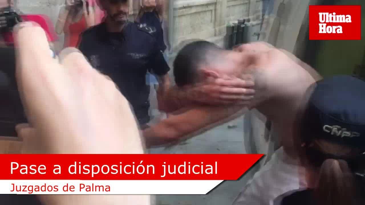 A disposición judicial el detenido por agredir mortalmente al turista holandés en Palma