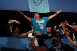 Maradona, tres años de presidente