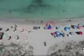 Drones contra la venta ambulante ilegal en Formentera