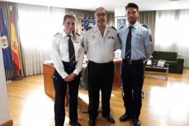 Dos inspectores alemanes realizan sus prácticas en Palma
