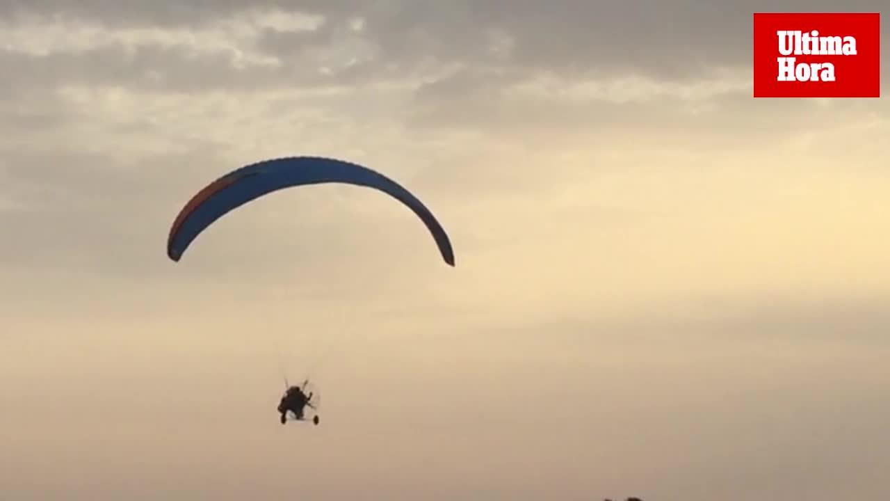 Catorce pilotos sobrevuelan Mallorca en la V Concentración Paramotor Islas del Mediterranéo