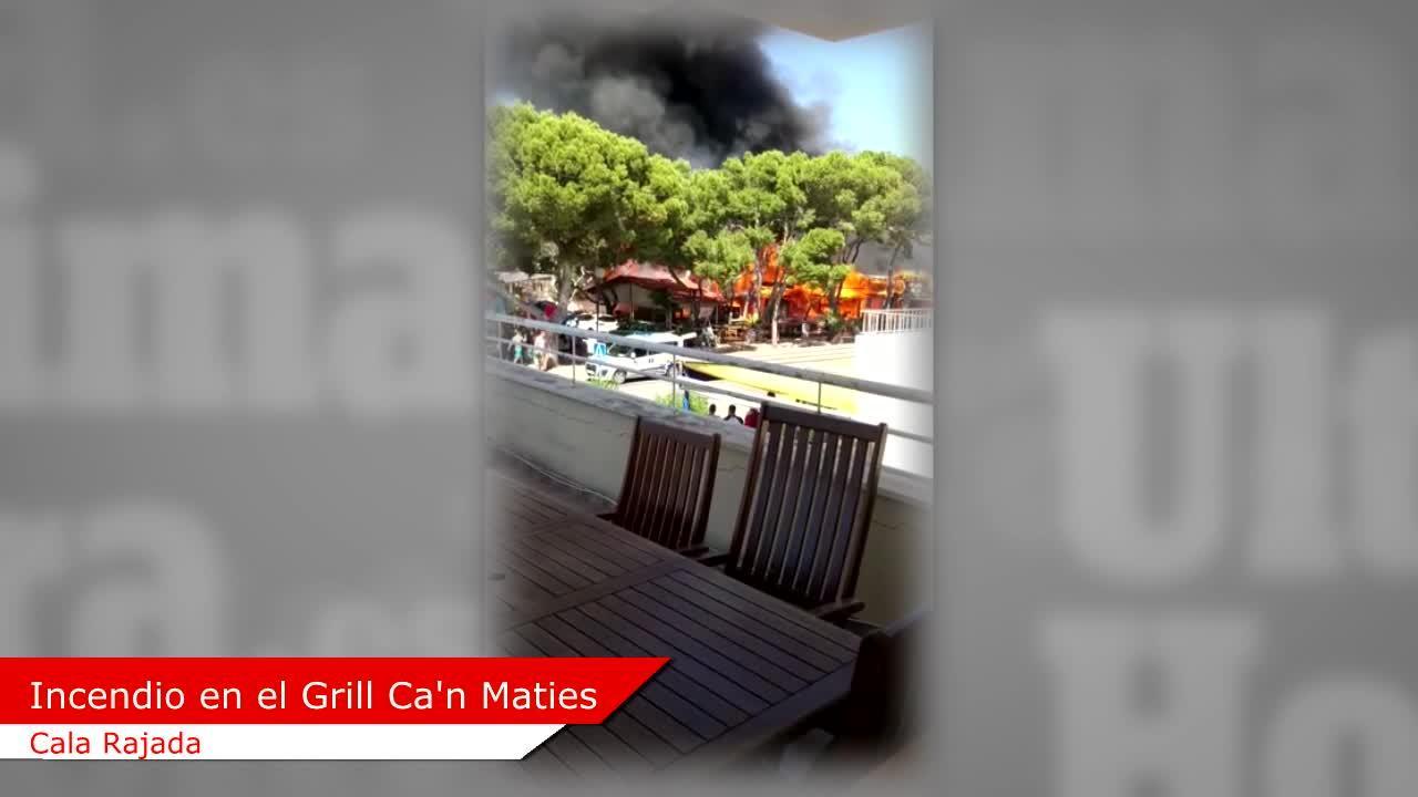 Un incendio calcina un restaurante de Cala Rajada