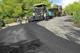 El Ajuntament invierte 462.000 euros en la mejora de la carretera de Portals Vells