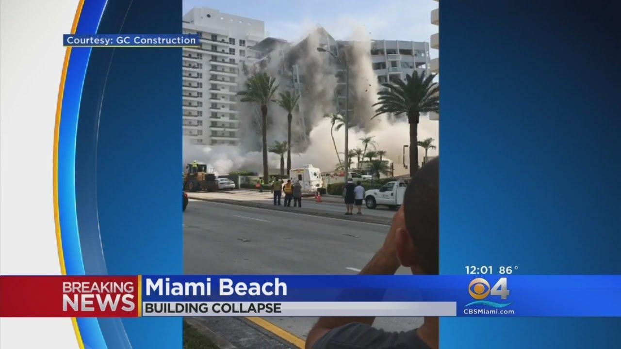 Al menos un trabajador resulta herido tras derrumbarse un edificio en Miami