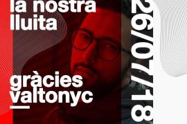 Acto en apoyo de Valtonyc este jueves en Can Alcover