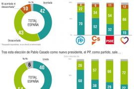 El 70 % de los votantes del PP ve acertada la elección de Pablo Casado