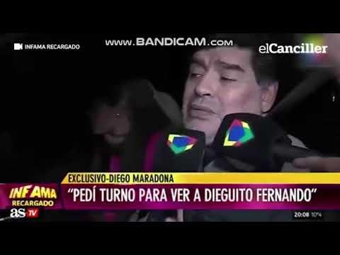 Maradona reaparece en un estado deplorable al volante de un coche