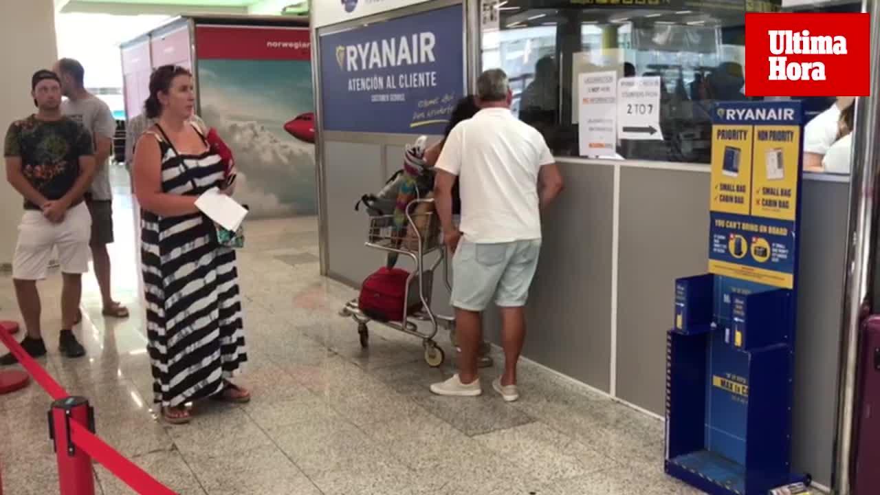 Un total de 57 vuelos cancelados en Baleares por la huelga de Ryanair