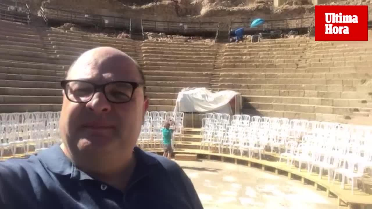 Joan Carles Bestard representa 'La bella Helena' en el Festival de Mérida
