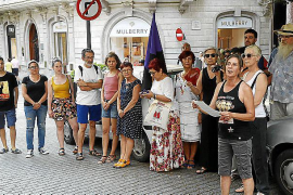 Tibia protesta en Mallorca contra la condena a Juana Rivas