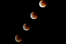 Eclipse lunar en Gran Canaria