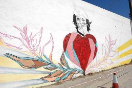 Grafiti en homenaje a Ángel Nieto en el primer aniversario de su muerte