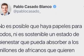 El polémico tuit de Pablo Casado