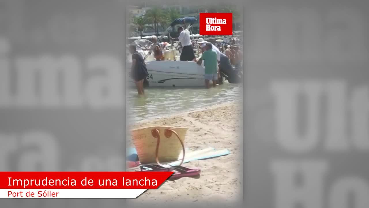 Imprudencia grave en la playa de Sóller